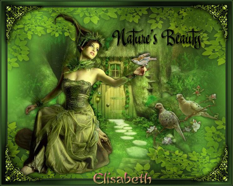 """Ma réalisation du tuto """"Nature's Beauty"""""""