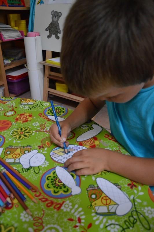 Blog de sylviebernard-art-bouteville : sylviebernard-art-bouteville, Mattéo et Nohan - Arlequin - Juillet 2013