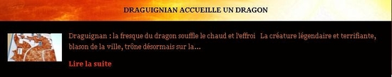 draguignan accueille un dragon