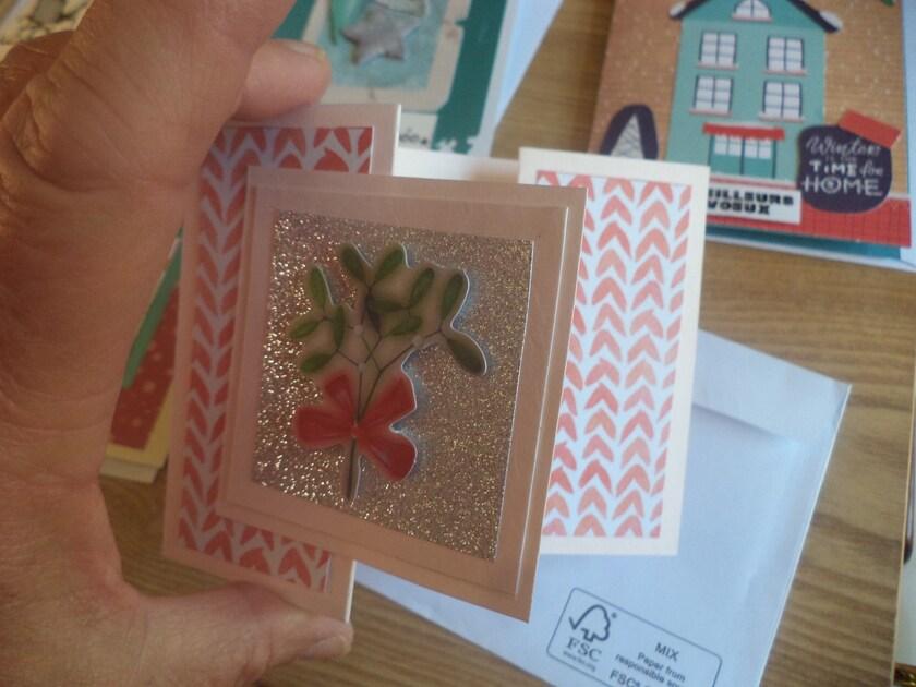 Mes cartes de voeux fait mains