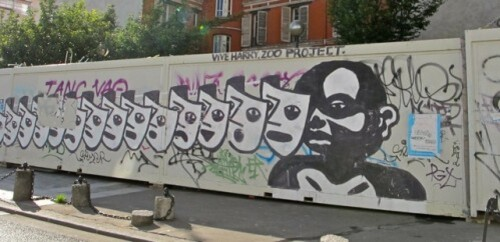 Zoo Project street-art Belleville masques