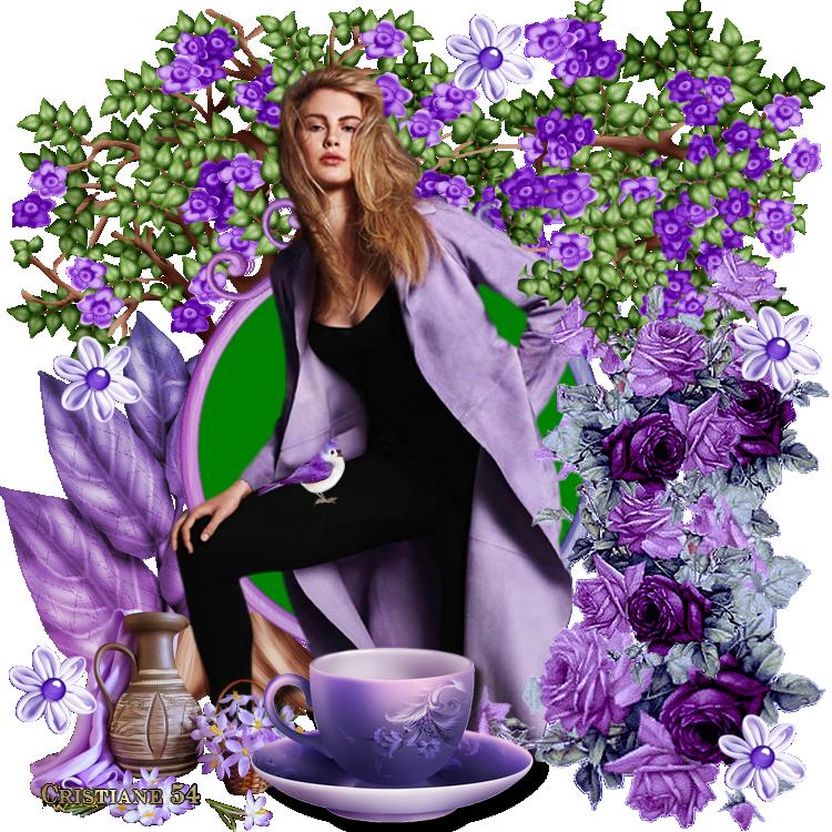 Un défi pour notreamie Kikoonette ( violet mauve )