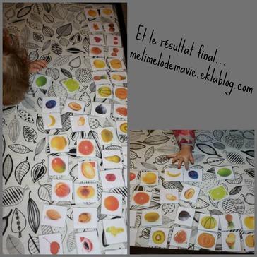Des fruits entiers et des fruits coupés!
