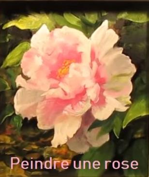 Dessin et peinture - vidéo 2834 : Une belle rose du jardin - huile ou acrylique.