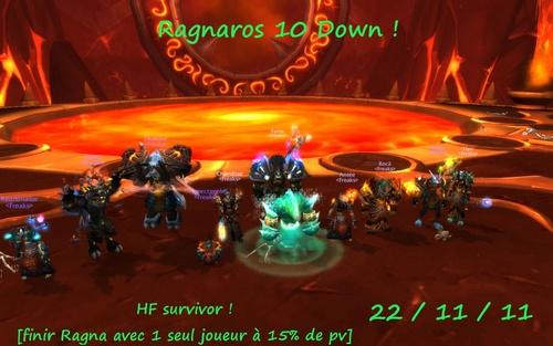 Ragnaros 10 down ! Instance mode normal clean !