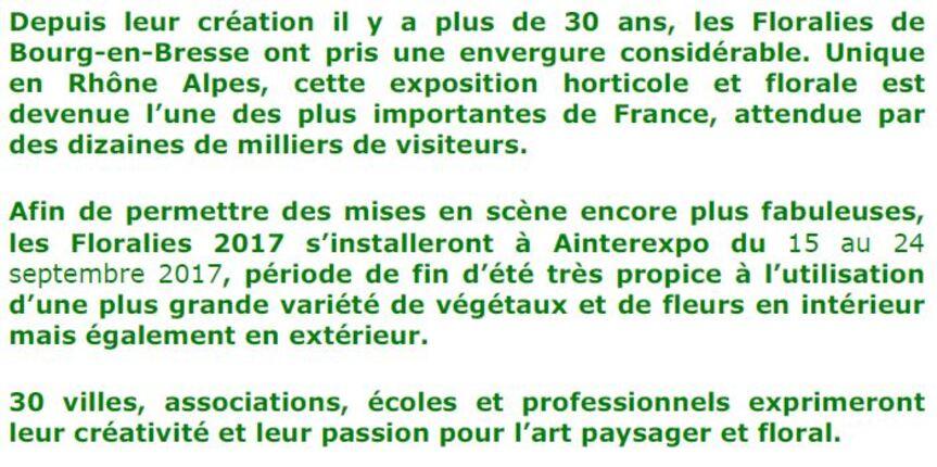Sortie aux Floralies de Bourg en Bresse - Samedi 16/09/2017