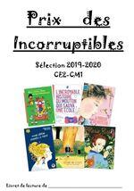 Les Incorruptibles - Prix 2020 - Livret des élèves