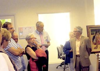 Vernissage de l'exposition « Chefs d'œuvre en Presqu'île