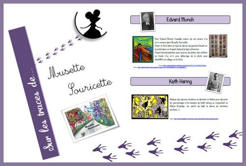Musette Souricette - regroupement de mes idées pour mon projet