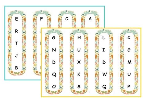 Atelier : j'encadre l'alphabet