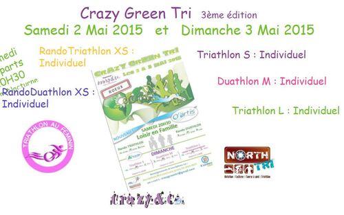Crazy green tri