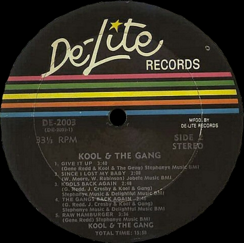 "Kool & The Gang : Album "" Kool & The Gang "" De-Lite Records DE-2003 [ US ]"