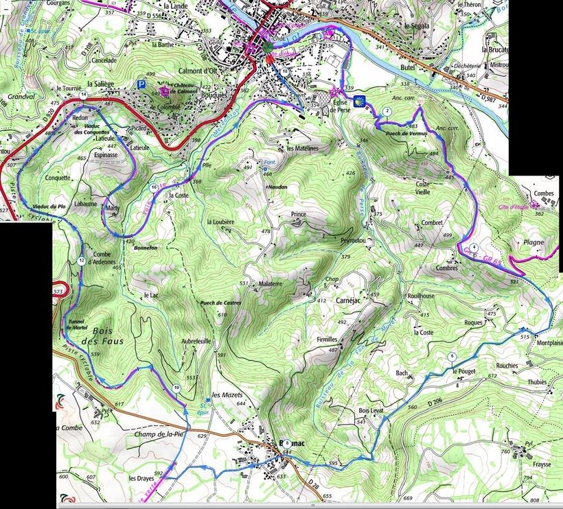 On part d'Espalion, ils arrivent du Puy en Velay