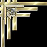 Arany sarokdísz