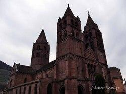 l'église Saint Léger à Guebwiller en grès rose vosgien