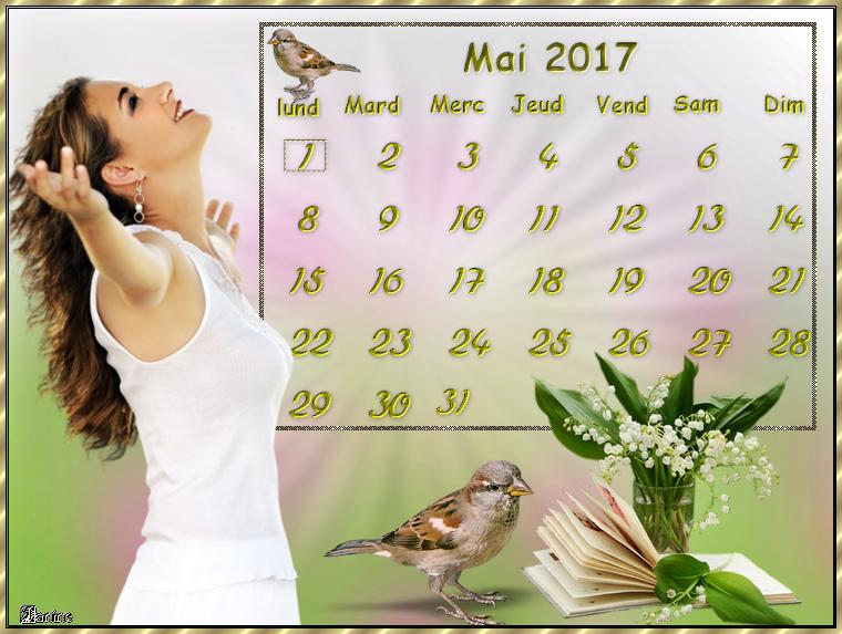 Défis Sissi Douceur Calendrier Mai 2017
