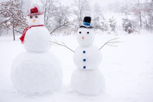 Les bonshommes de neige...