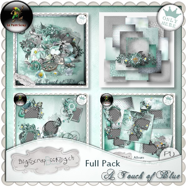 """ A Touch of blue "" by Le petit scrap"
