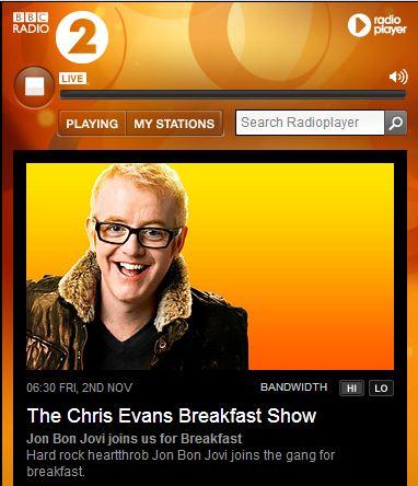 jon bon jovi invité au petit déjeuné de bbc radio 2 ce matin même