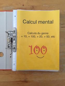 Classeurs calcul mental, autonomie
