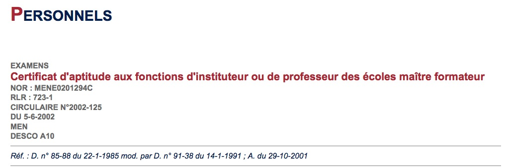 Documents institutionnels et sites de référence
