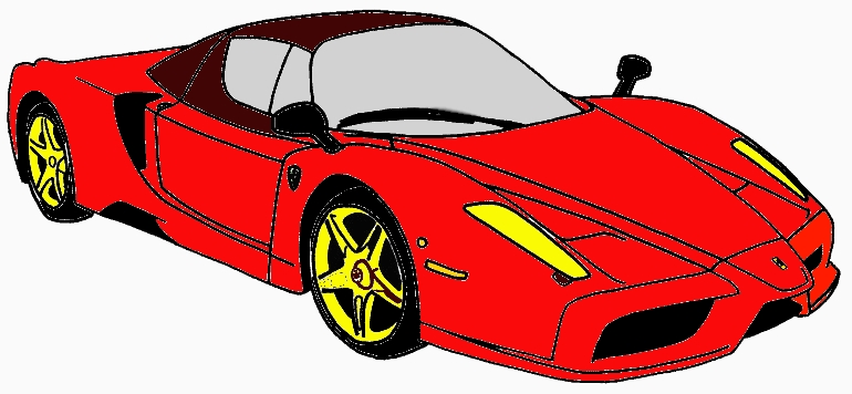 B2i bricolage lecture les aventures d 39 ulis - Ferrari a colorier ...