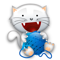 chat pelote gif png