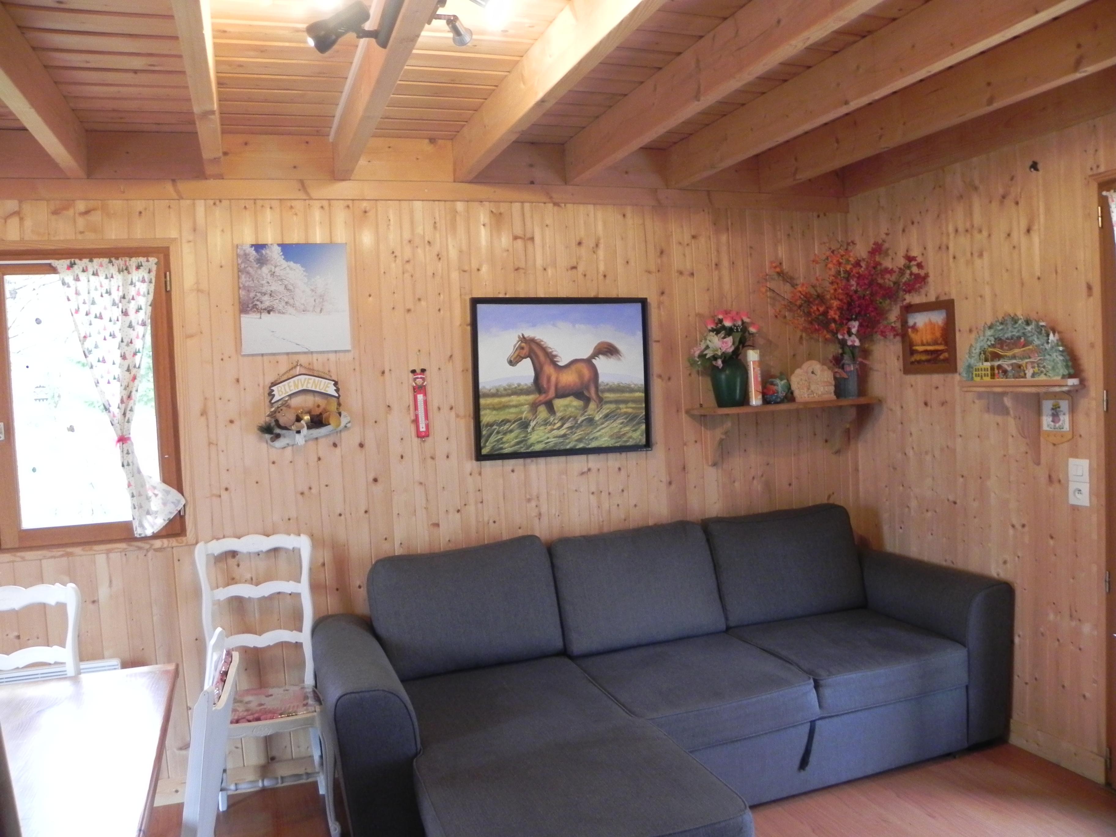 et voici la cuisine amricaine et salon salle manger du rve bois