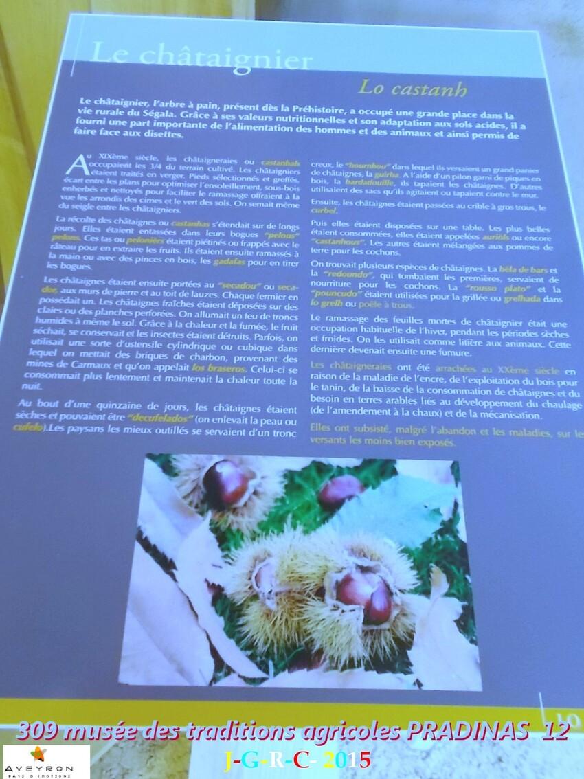 MUSEE DES TRADITIONS  AGRICOLES 1/6 DE PRADINAS 12   D 28/10/2015
