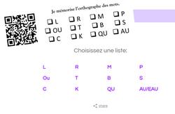 Mémoriser l'orthotographe des mots, orthographe, lire, écrire, mot, dixmois, cycle 2, CP, CE1, CE2, autonomie, qr code, hybride, enseignement