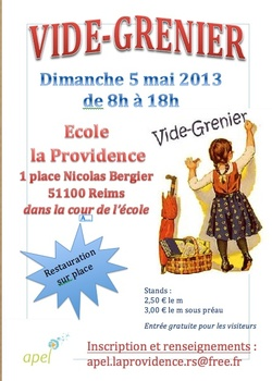 VIDE-GRENIER 5 MAI 2013