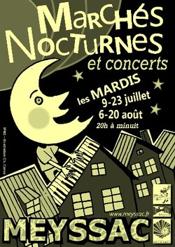 Marché nocturne de Meyssac - Le 6 août 2013