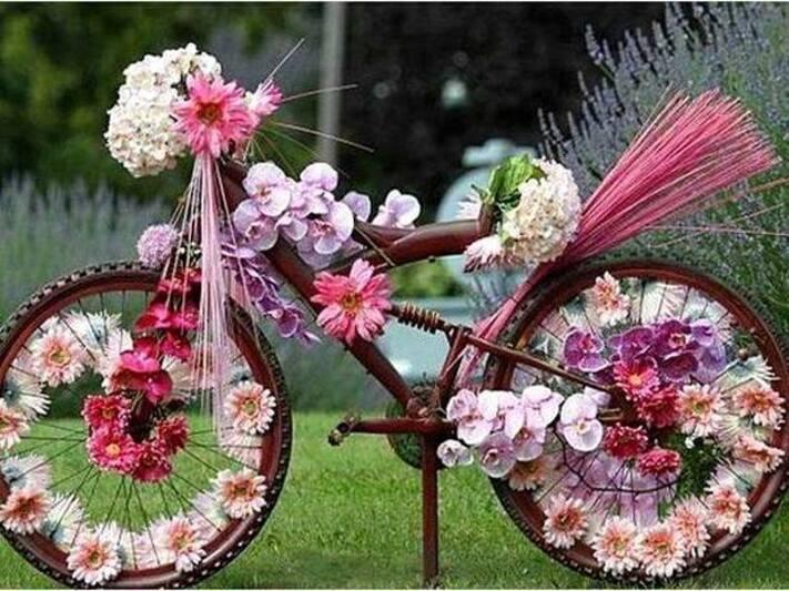 J'adore les vélos décorés