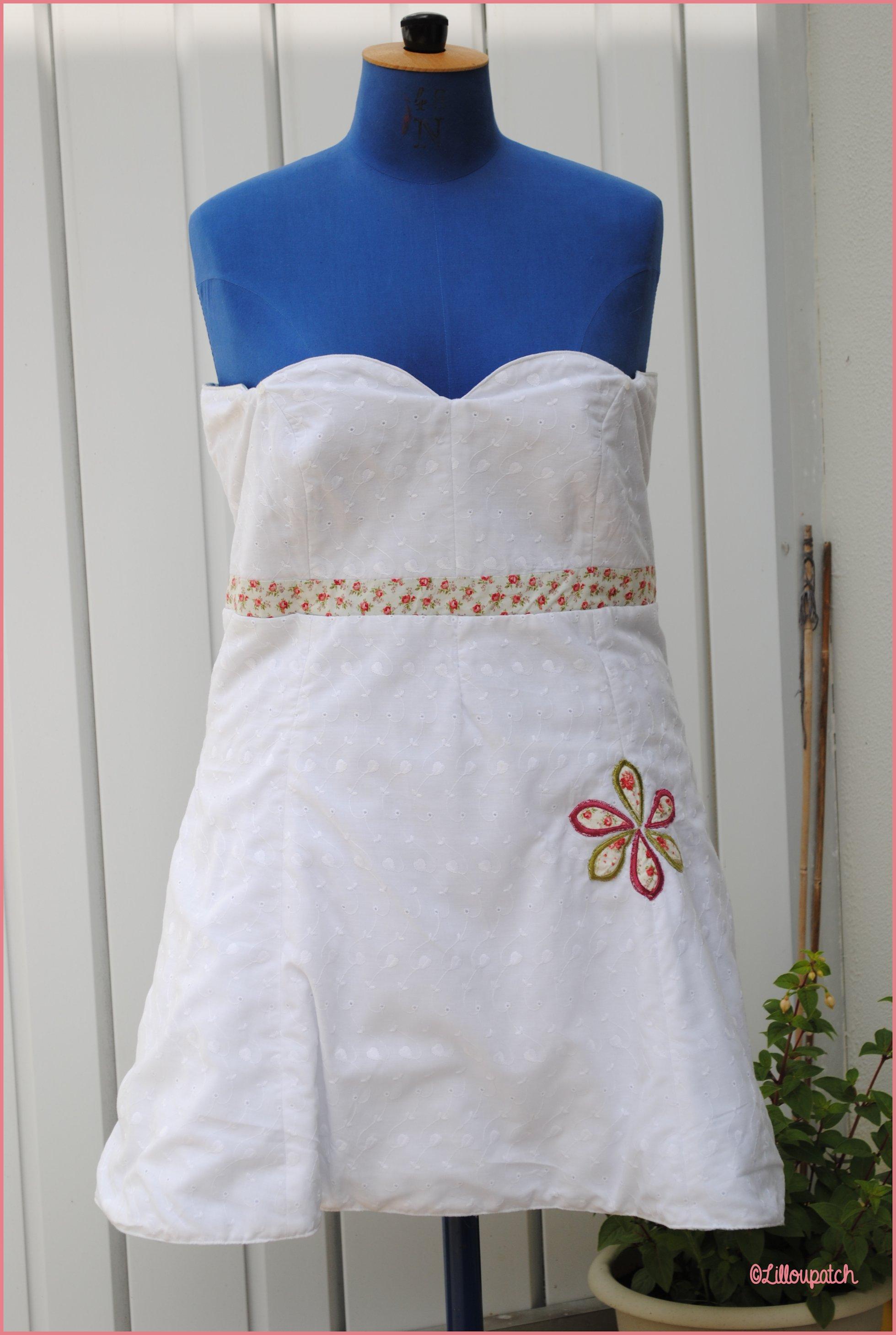 Robe petit citron côté blanc