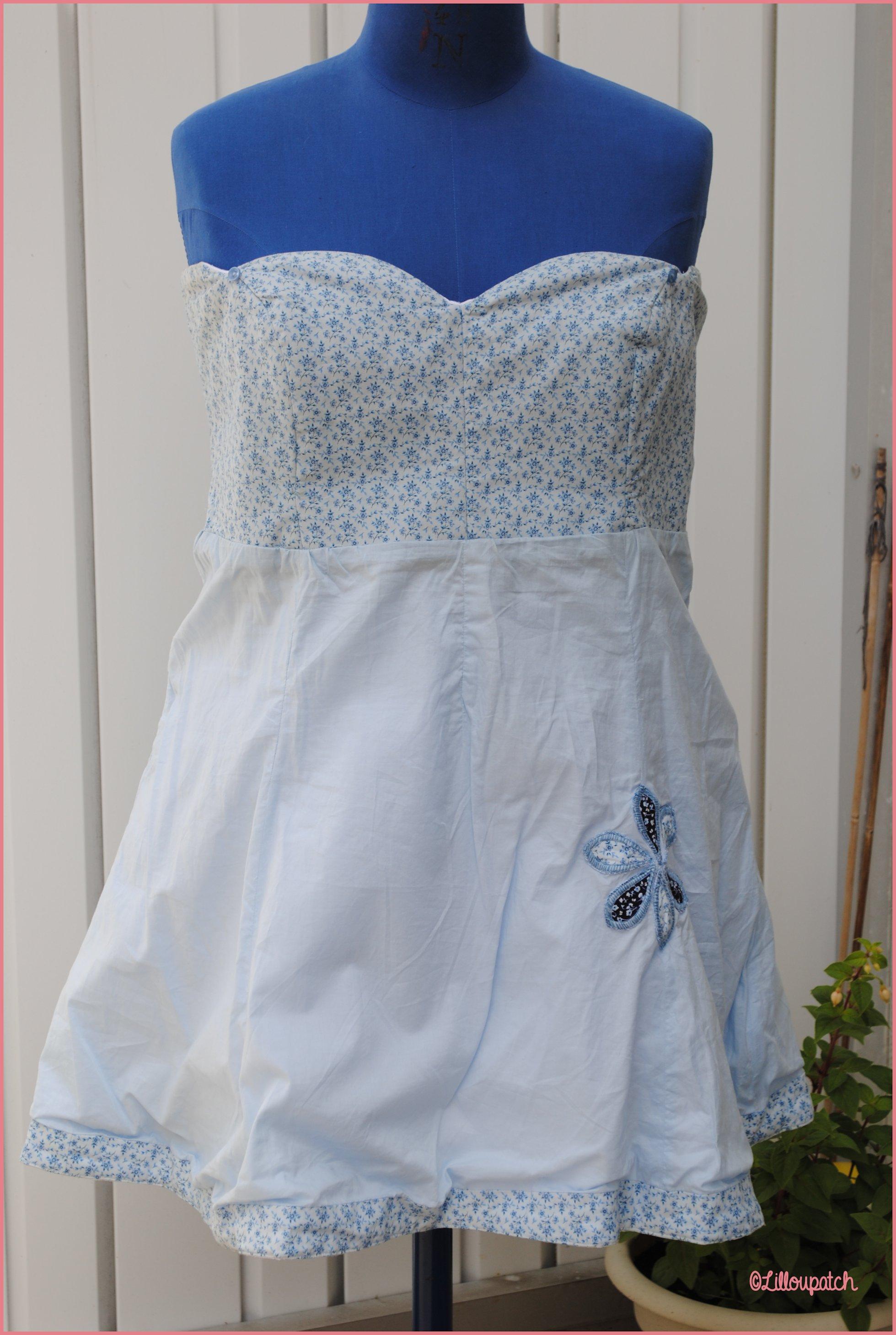 Robe petit citron côté bleu