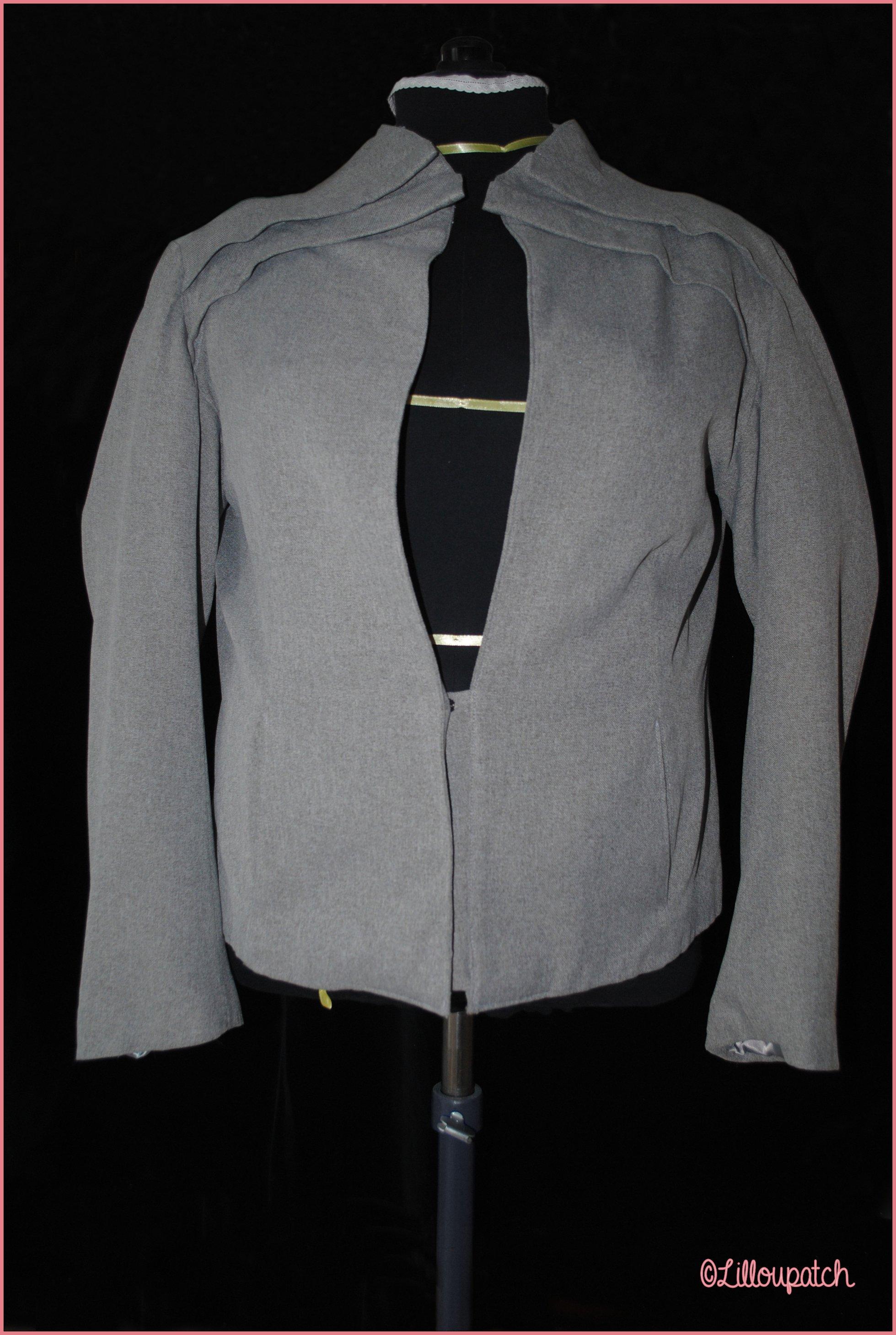 Veste tailleur gris