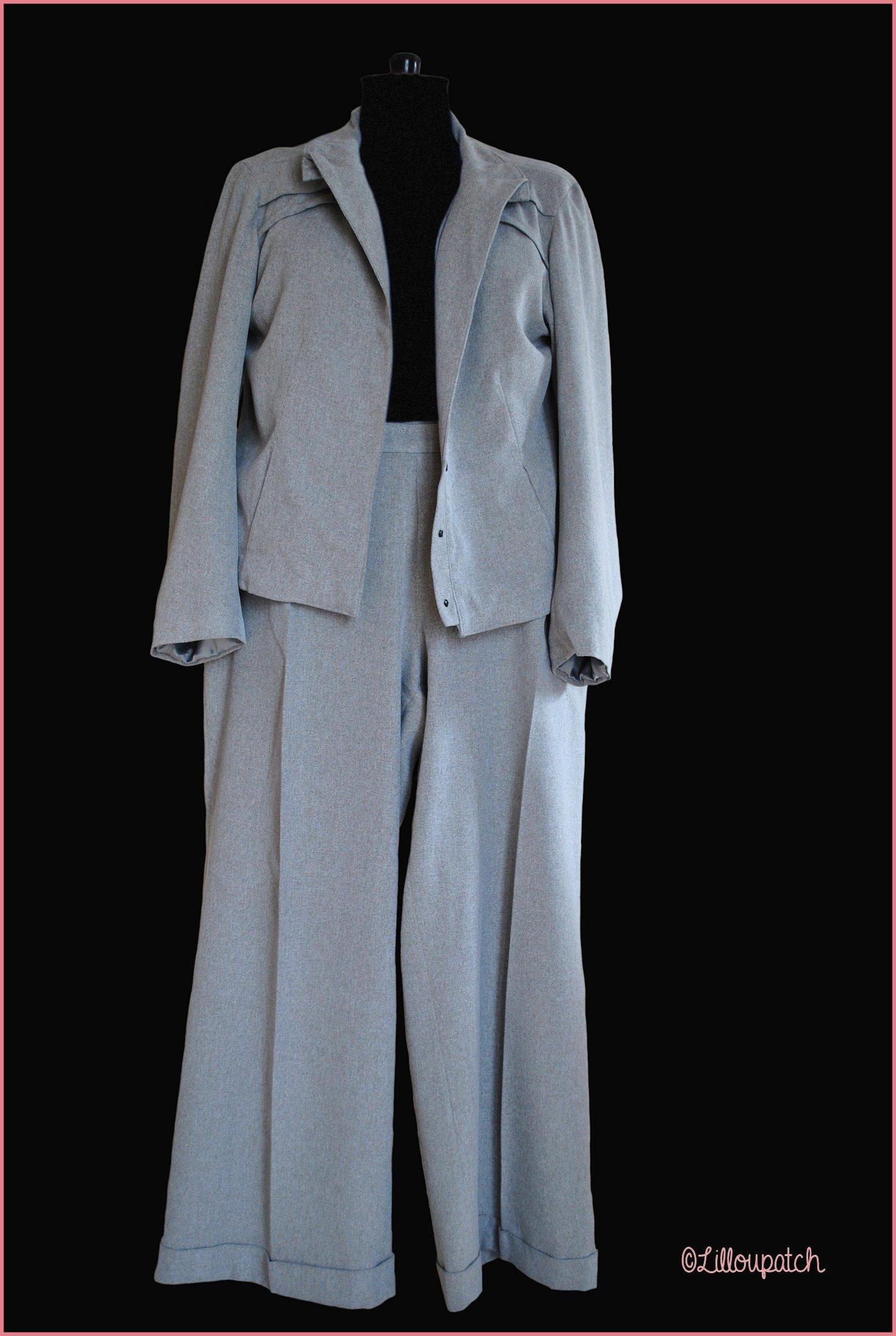 Tailleur en lainage gris