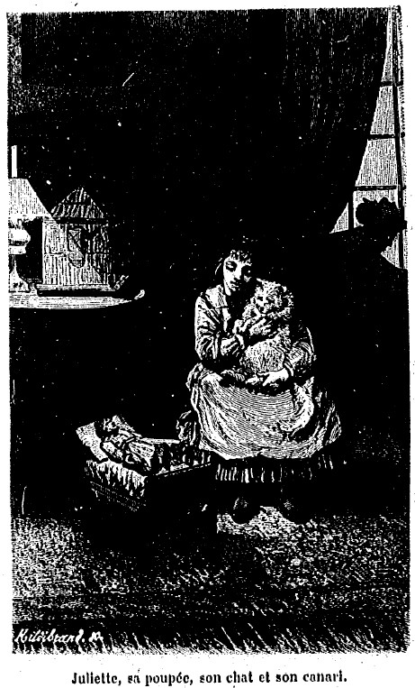 Juliette, sa Poupée, son Chat et son Canari - Kergomard 50 images expliquées 02