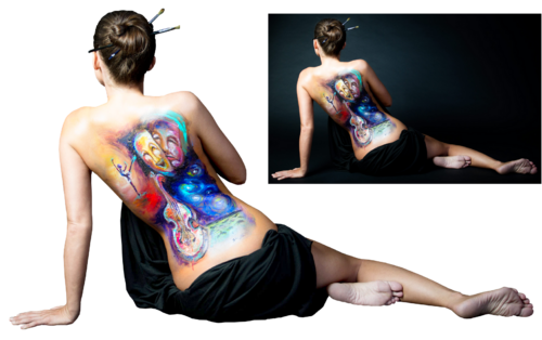 femme body painting