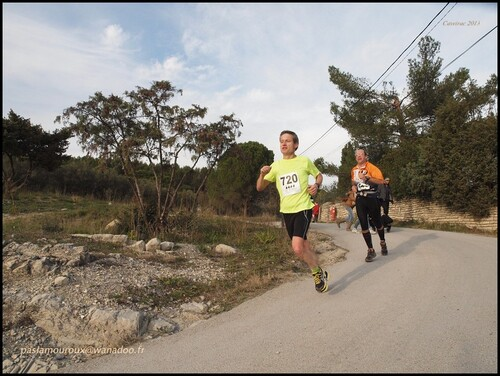 1ère course 2013 : trail de 10,2 km à Caveirac (gard