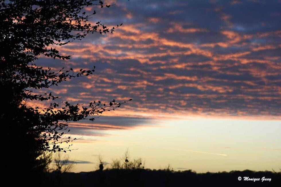 Couchers de soleil du 6 décembre dernier