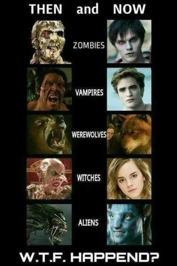 monstres et vampirse avant après