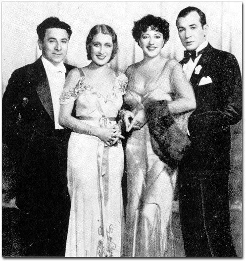 Jack Pearl, Ruth Etting, Helen Morgan and Harry Richmond. The Stars of the 1931 Ziegfeld Follies.