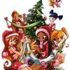 Les Winx décorant leur arbre de Noël