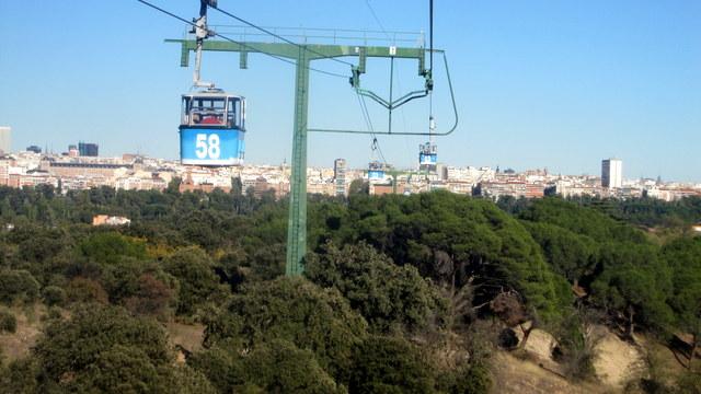 le téléphérique de Madrid