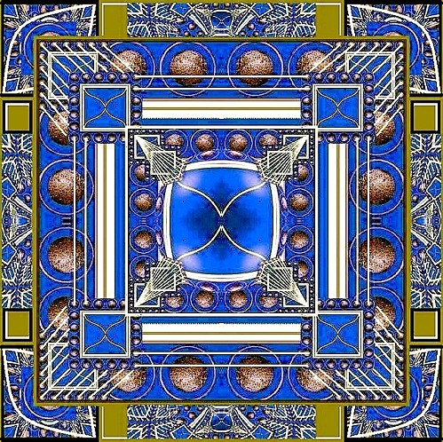 2 Mandala bleu Chronique version Marc