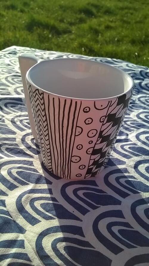 DIY : dessiner sur de la porcelaine/Cadeau pour la fête des Mamies