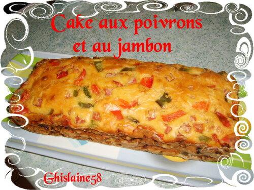 Cake aux poivrons et jambon
