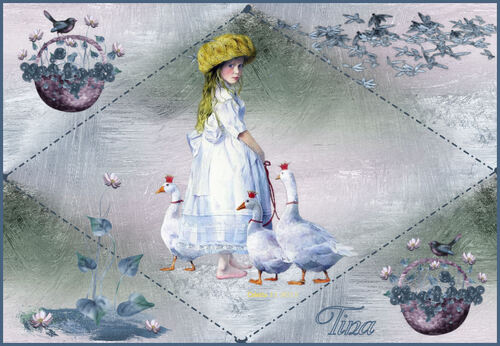La petite fille aux oies