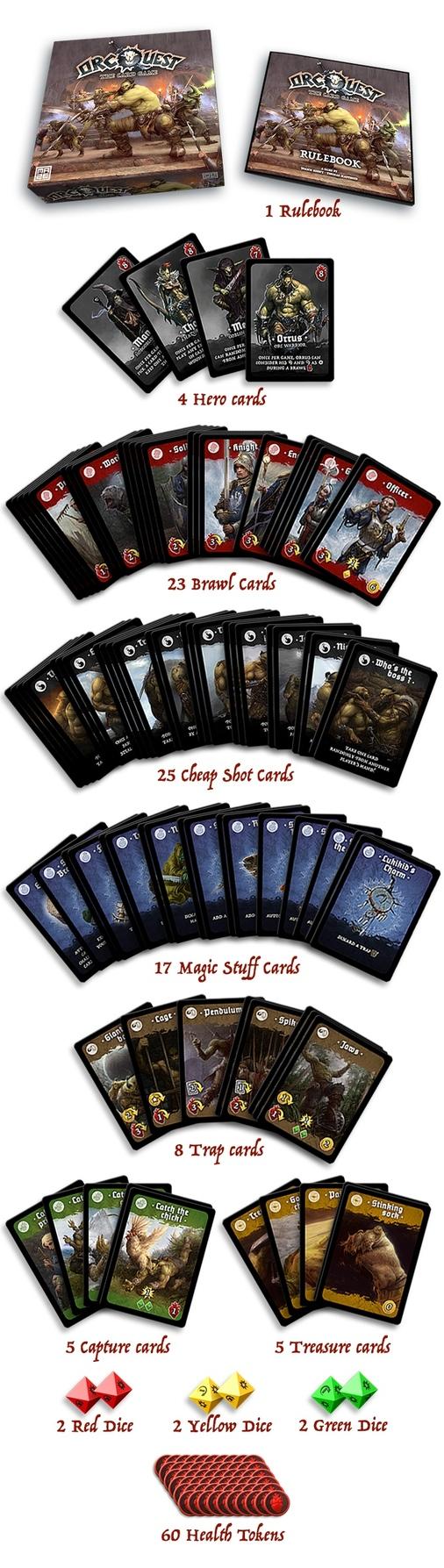 Orcquest le jeu de carte de Maze Games